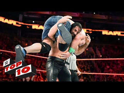 Top 10 Raw moments: WWE Top 10, February 19, 2018 thumbnail