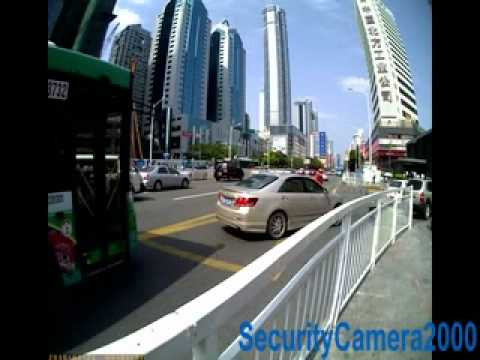 Sample Video of 105 Deg Super Wide View 1280X1024 High Resolution Car DVR Recorder from SC2000.com