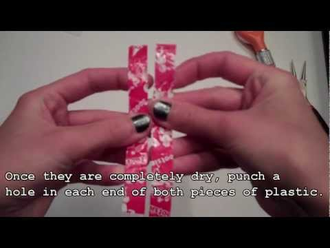 How To Make Recycled Plastic Bottle Earrings - Tutorial