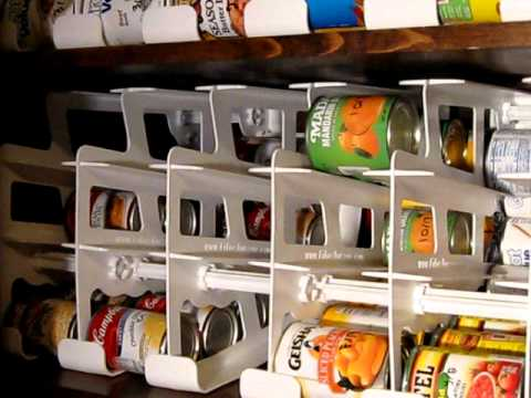 Self Rotating Can Rack Food Storage Ideas How To Make