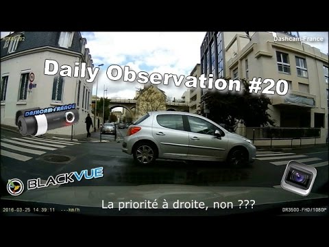 ► Daily Observation #20 - Dashcam France ◄™ | Observations quotidiennes / Road rage