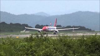 2013/07/31 Edelweiss Air A330-223 Takeoff at Hiroshima Airport