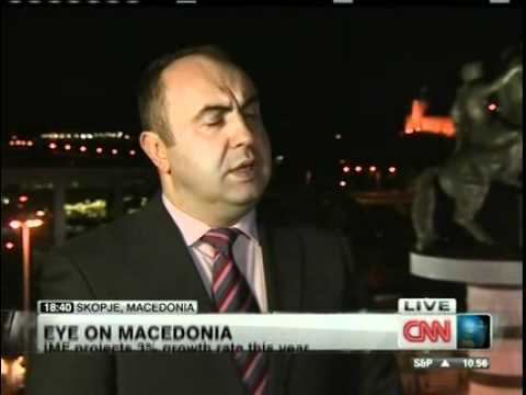 "Day 5 of CNN's ""Eye on"" Program (Macedonia) from the capital Skopje (Main Square). Deputy Prime Minister interview."