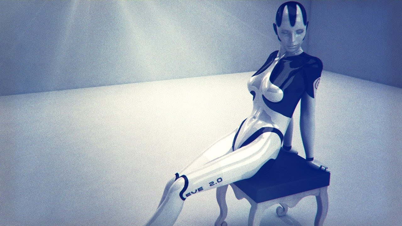 Female Android Eve Mk2 Sensual Robot 3d Cyborg
