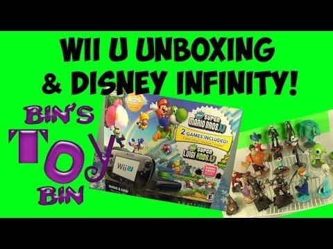 Bin's Wii U Unboxing & Disney Infinity Review (Wii vs. Wii U Versions)! by Bin's Toy Bin