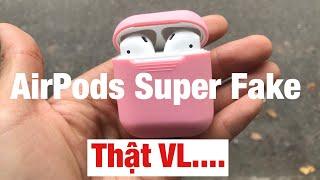 Trên Tay Airpods Super Fake tỉ lệ 1:1 Có Cảm Biến Giống Hệt Apple #airpods