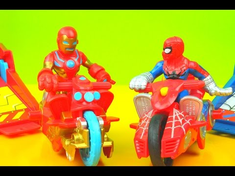 PlaySkool Heroes Marvel Iron man & Spider-Man Launcher