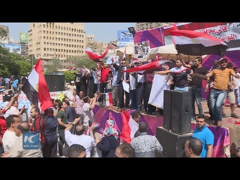 Supporting demonstration for President Sisi coincides with Egypt's Sinai Liberation Day