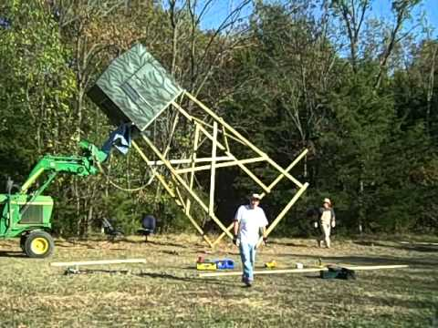 Missouri shadow hunter 6x6 hunting blind setup 1 deer for Permanent tree stand