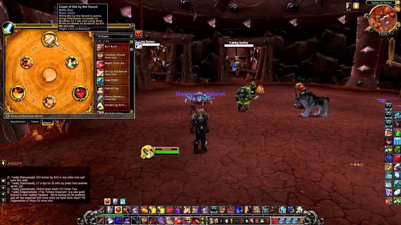 World of warcraft arms warrior dps pve guide 5 4 mop for Wow portent 5 4
