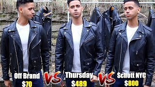 Thursday Leather Jacket Vs Schott Perfecto 118 Vs A $70 Leather Jacket- Best Motorcycle Jackets