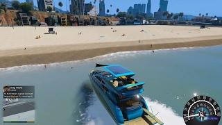 GTA 5 - Chở bạn gái đi du thuyền ra ngoài khơi câu cá   ND Gaming