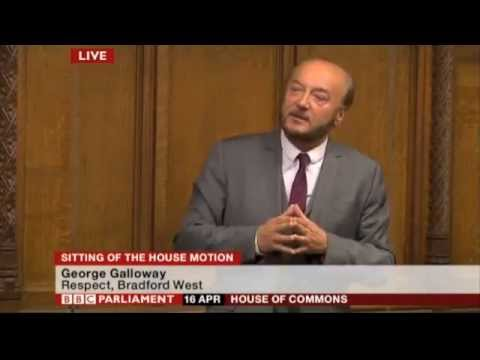 George smashes it in parliament