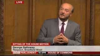 "George smashes it in parliament ""Thatcher Debate"" 2013"