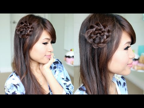 Rosette Flower Braid Hair Tutorial | Easy Summer Hairstyles