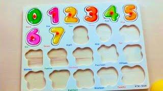 Учим цифры от 1 до 20 для детей Яйца Сюрпризы Учимся считать от 1 до 20 с досочкой вкладкой