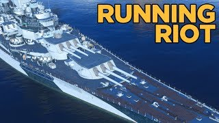 Massachusetts Running Riot - World of Warships
