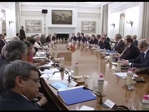 PM Modi holds delegation level talks with Russian President Vladimir Putin