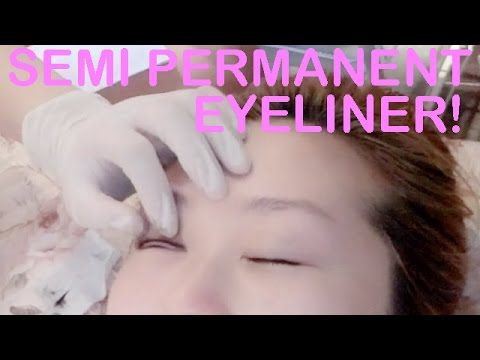 VLOG - SEMI PERMANENT EYELINER - BEAUTY TALK