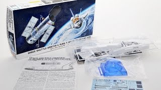 Hasegawa Space Shuttle & Hubble Telescope 1/200 Model Kit From JAPAN  61735