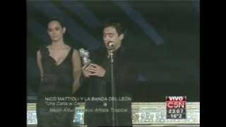 Nico Mattioli en los Premios Gardel 21/08/2013