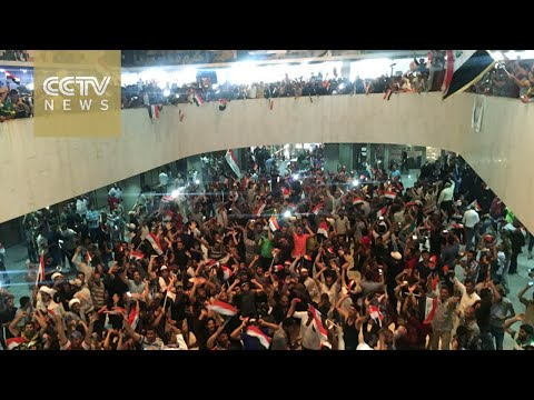 Supporters of prominent Shiite cleric storm Baghdad Green Zone