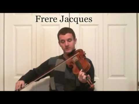 learn how to play frere jacques on the violin learn to slur music notes youtube. Black Bedroom Furniture Sets. Home Design Ideas
