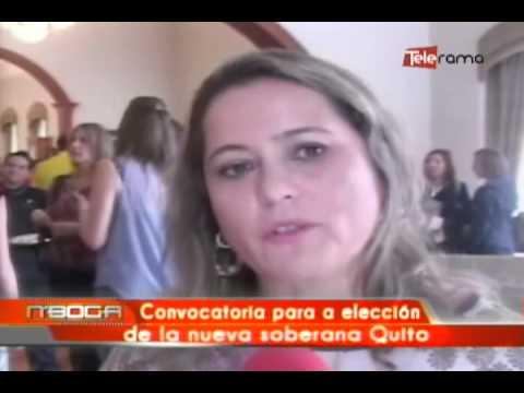 Convocatoria para elección de la nueva soberana de Quito