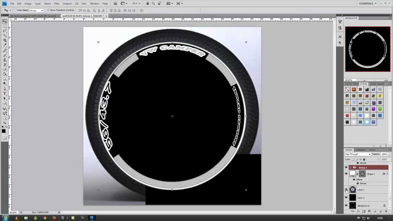 Creating a bump map for a tire - Timelapse - YouTube