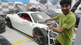 REBUILDING A CRASHED FERRARI 458 IN DUBAI