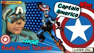Avengers: Captain America Body Paint Tutorial (NoBlandMakeup)