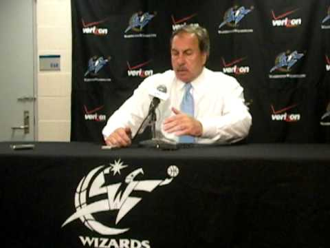 Ernie Grunfeld press conference after taking John Wall with the number one pick.