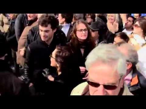 Marianne malmenée au meeting de Nicolas Sarkozy
