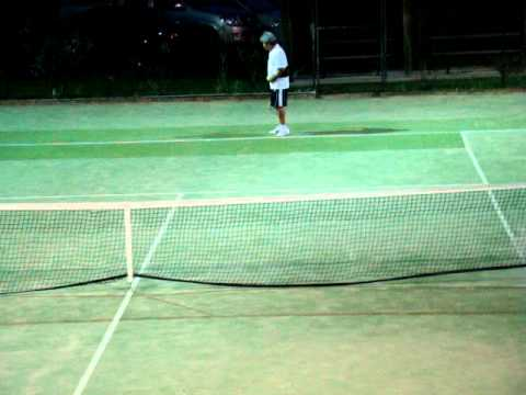 Sdta b grade singles open tennis semi finals father vs son  part 1