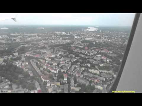 Inflight onboard Flug Swiss A321-100 HB-IOC LX970 von Zürich Kloten kommend Landung in Berlin Tegel