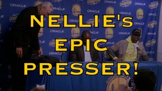 "Nellie (Don Nelson) EPIC presser: ""I've been smoking some pot"" + Stephen Jackson + Jason Richardson"