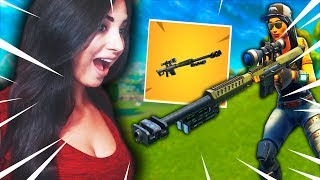 ON TESTE LE NOUVEAU SNIPER AVEC MrLEV12 / FORTNITE BATTLE ROYALE