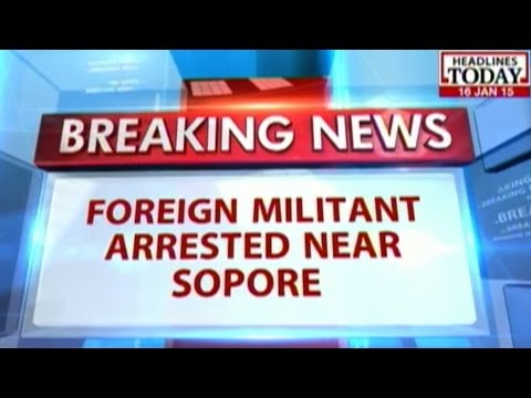 Foreign militant arrested near Sopore in J&K