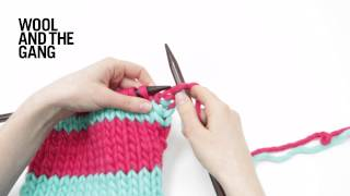How to knit stripes - DIY tutorial for adding stripes to scarf