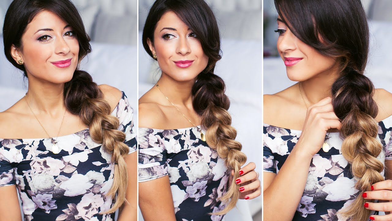 Pull-Through Side Braid Hairstyle - YouTube