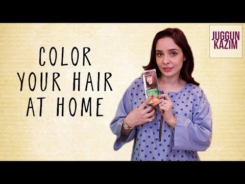 How to Color Your Hair at Home Using Garnier Color Naturals | Hair Color Tutorial | Juggun Kazim