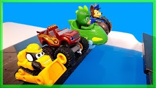 Blaze the Monster Truck Paw Patrol Pj MasksJump and  Race over Water