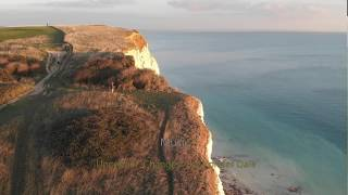 Seaford Head cliff face collapse. 14 Oct 2018