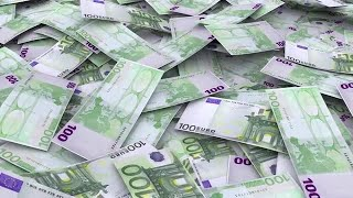 Euro Currency Infinite Pile Stock Motion Graphics