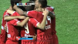 Gol de Riaño. Godoy Cruz 0 - Independiente 1. Fecha 7. Primera División 2015. FPT.