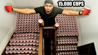 INSANE REVENGE CUP PRANK ON MOM (15,000+ RED CUPS)