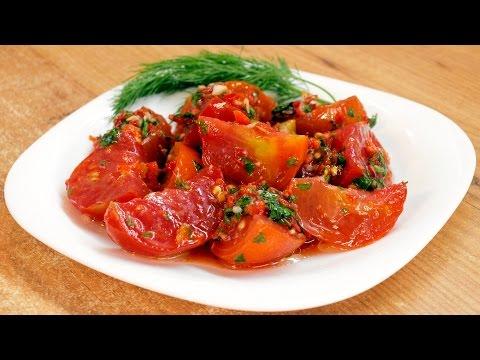 Помидоры по-корейски / Korean style tomatoes ♡ English subtitles