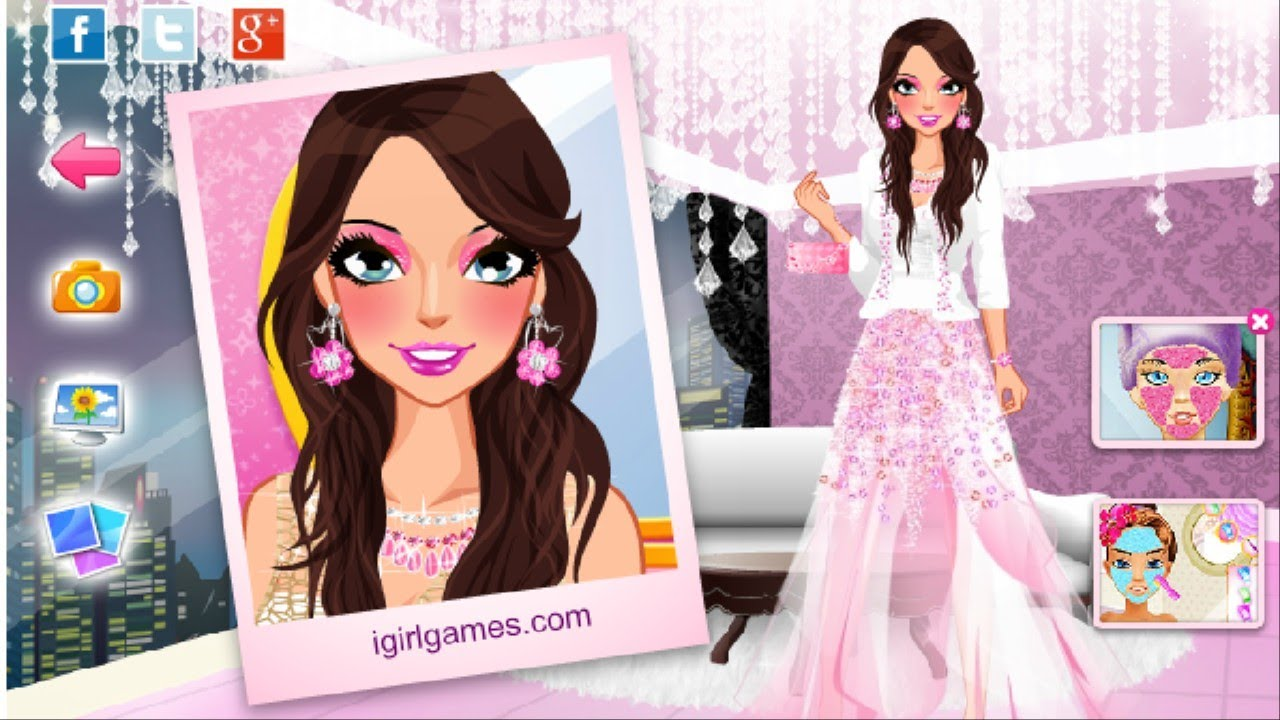 Pink Diamonds Princess Makeover Games For Girls To Play ...