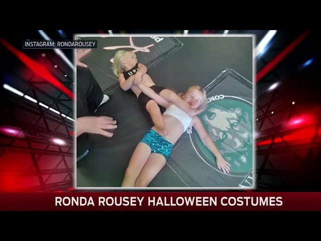 Kids dress up as Ronda Rousey for Halloween