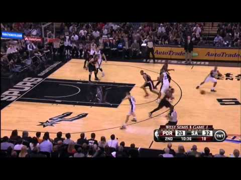 NBA, playoff 2014, Spurs vs. Trail Blazers, Round 2, Game 1, Move 8, Dorell Wright, steal